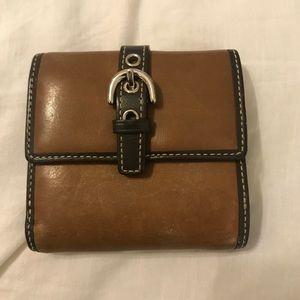 Small tan wallet